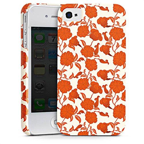 Apple iPhone X Silikon Hülle Case Schutzhülle Flower Blätter Ranken Premium Case glänzend