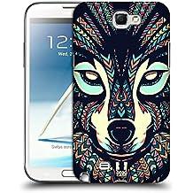 Head Case Designs Loup Animaux Aztèques Étui Coque Rigide Pour Samsung Galaxy Note 2 II N7100