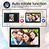 TENKER 10-inch HD Digital Photo Frame IPS LCD Screen with Auto-Rotate/Calendar/Clock Function, MP3/Photo/Video Player with Remote Control (Black) (10 inch)