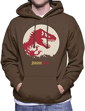 Jurassic Park Red Silhouette Men's Hooded Sweatshirt