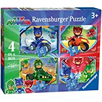 Jigsaws and puzzles amazon ravensburger pj masks 4 in a box 12 16 20 24pc urtaz Image collections