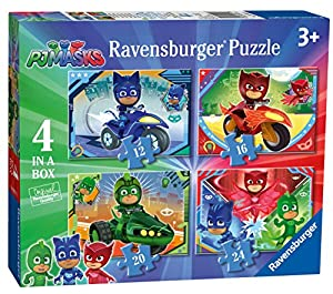 Ravensburger UK 6974 PJMasks 4 en una Caja (12, 16, 20, 24 Piezas) Puzzles de Sierra