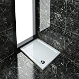 Rectangular 900 x 700 mm Stone Tray for Shower Enclosure Cubicle   Waste Trap