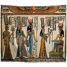 A.Monamour Tapices Decoración Egipcia Papiro Egipcio Que Muestra A La Reina Nefertari Haciendo Una