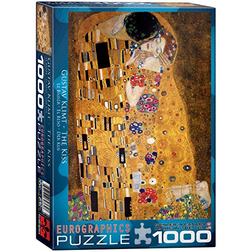 Eurographics Klimt - The Kiss (der Kuss) Jigsaw Puzzle 1000 Pieces 19.25'X26.5' EUROPZ-4365