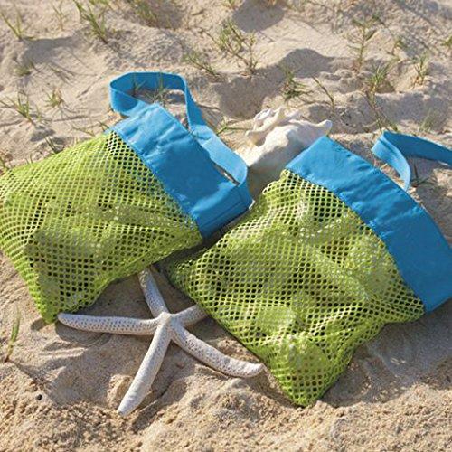 MagiDeal Bambini Sabbia Maglia Collezione Di Conchiglie Organizzazione Borsa Sacchetto da Mare Spiaggia - #1 #2