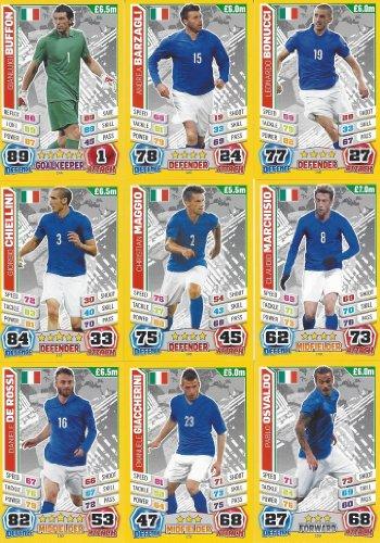 Match Attax England World Cup 2014 Italy Base Card Team Set (11 Cards) England-match