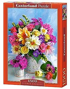 Castorland Flower Bouquet 1500 pcs Puzzle - Rompecabezas (Puzzle Rompecabezas, Flora, Niños y Adultos, Niño/niña, 9 año(s), Interior)