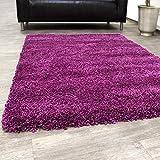 Shaggy Rug / Super High Pile Shaggy / Rug for living room / -Rio XXL- Purple, Size:10x10 cm Sample