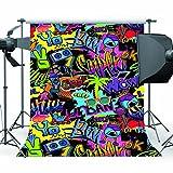 Mehofoto Hip Hop Hintergrund 5 x 7 ft 80er und 90er Jahre Party Thema Hintergrund Graffiti Fotografie Kulissen für Party