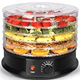 Sohler BY1147-1 Electric Round Large Food Dehydrator Machine with 5 Trays for Fruit