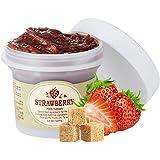 SKIN FOOD Black Sugar Strawberry Mask Wash Off 3.38 fl.oz. (100g) - Skin Exfoliating and Moisturizing Facial Wash Off Mask, R