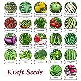 #3: Kraft Seeds 22 Varieties of Vegetable Seeds Indian Vegetable Exotic Vegetable Heirloom Varieties Grow Your Own Vegetable Garden High Yield Varieties
