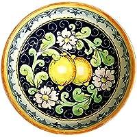 CERAMICHE D'ARTE PARRINI- Ceramica italiana artistica , bolo decorazione limoni, dipinto a mano , made in ITALY Toscana