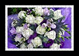 Puzzle Style (Pre-assembled) Wall Print of Russell Lisianthus Roses Freesia Decoration Flower Purple Decor by Lisa Loft