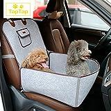 Premium Hunde Autositz aus natürlichem Filz für Beifahrersitz | Autositzbezug | Hundesitz Auto, Hundedecke fürs Auto | Sitzbezug geeignet für kleine und mittlere Hunde (45*45*60CM) Hundebox in Grau