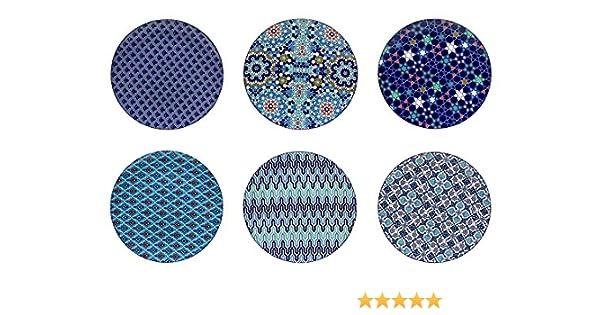 Orientale 26/cm Blu Blu e Bianco Ceramica m/édit/éran/ée Giapponese Asiatico Ard Time ec-6azaspm 6/Piatti Piani Piccolo Modello Design Azulejos//Stile Etnico Mondo