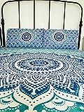 Bazzaree Indian Wandteppich für Mandala/Tagesdecke Gypsy Cover Boho Double Set Ombre UK Verkäufer