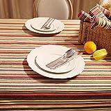 FLH Nacional de rayas del viento Imitación de tela de lino Tela de mesa Retro Tableta de café Tela de mesa Tela Arte Mantel ( Color : Rojo , Tamaño : 140*220cm )