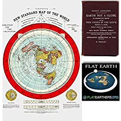 mappa della terra piatta - Flat Earth Map - Gleason's New Standard Map Of The World - Large 24 x 36 1892 (1)