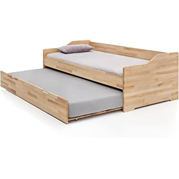 Massivholz Gastebett Aus Kernbuche Ausziehbares Doppel Bett Als