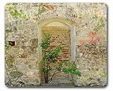 1art1 89319 Mauern - Romantische Garten-Mauer Mauspad 23 x 19 cm