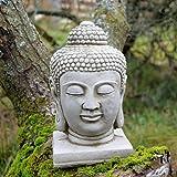 Classic adorno de jardín Estatua de Cabeza De Buda Escultura De piedra fundido a medida única