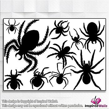Spooky Spider Crawling Halloween Scary Vinyl Decal Sticker Car Window Wall Art