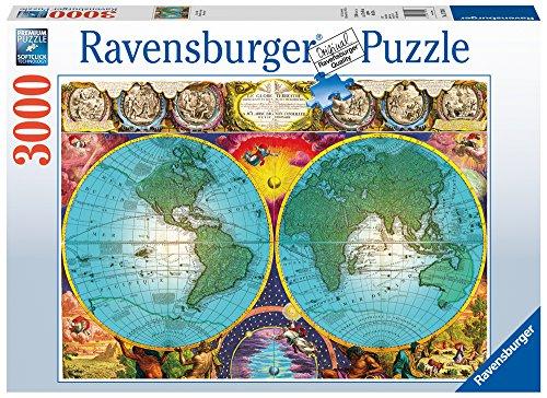 Antique Map 3000 PC Puzzle (3000 Weltkarte-puzzle)