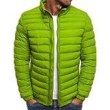 FAXIKIO Men's Puffer Jacket Packable Lightweight Quilted Jacket High Neck Winproof Padded Coat