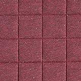 Fabulous Fabrics Steppstoff Jersey Konfetti Melange – Bordeauxrot — Meterware ab 0,5m — Oeko-Tex Standard 100 — zum Nähen von Jacken und Westen