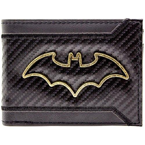 Batman Kinder-portemonnaies (DC Batman Gold skizzieren Abzeichen Schwarz Portemonnaie Geldbörse)
