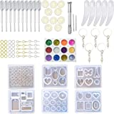 Transparante siliconen mal DIY Epoxy hars ambachten set, sieraden maken gereedschap kit