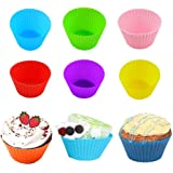 Lot de 24 moules à cupcakes,moulle a muffin silicone individuel,moules à muffin en silicone réutilisables,moules de cuisson p