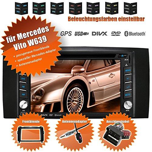 2DIN Autoradio CREATONE V-336DG für Mercedes Vito W639 (04/2006-05/2014 mit Audisystem 5 und 20 Mopf) mit GPS Navigation (Europa), Bluetooth, Touchscreen, DVD-Player und - 2014 Touchscreen Autoradio
