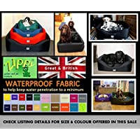 Zippy EXTRA LARGE Waterproof Pet Dog Bed - GREY - Hose Down Fabric - Loose Cover Bed - Wash or Wipe Clean