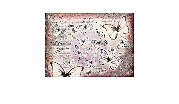Prima Marketing FMMTP-67185 Finnabair Mixed Media Tissue Paper 27.5X19.7 6//Pkg-Flutter