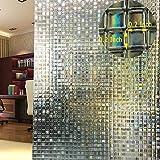 DUOFIRE Vinilo para Ventana de Privacidad Vinilo de Ventana Mosaico 3D Decorativa del Película de...