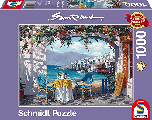 schmidt-spiele-59396-sam-park-varias-especialidades-a-mykonos-rompecabezas-1000-piezas