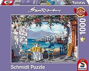 Schmidt Spiele 59396-Sam Park, Varias especialidades a Mykonos, Rompecabezas, 1000Piezas