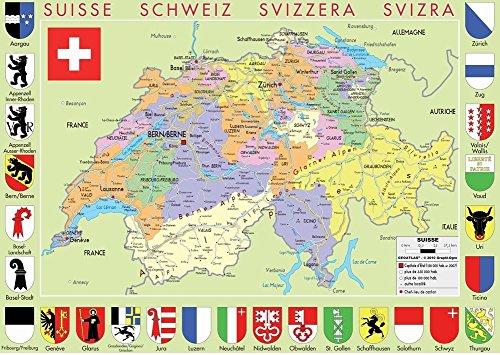 Puzzle Michele Wilson - Puzzle carte de Suisse - Bois - W77-50