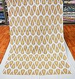 Marusthali Block Print Stoff Indische Schneiderei Baumwolle
