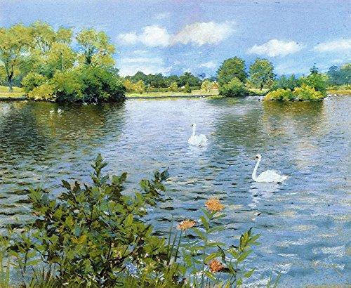 Das Museum Outlet-A Long Island Lake, 1890-Leinwand (61x 81,3cm)