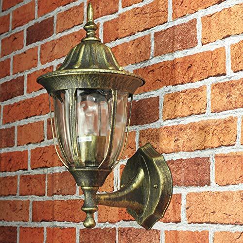 Gold Antike Gartenbeleuchtung MILANO Aluminium E27 IP44 Tür Haus Wand Lampe Außen Balkon Terrasse Lampe-haus