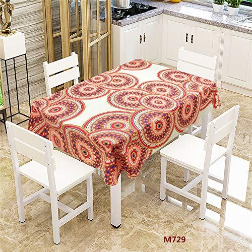 QWEASDZX Tischdecke Polyestergewebe Tischdecke Rutschfeste Baumwolle Polyester Einfache Tischdecke Mehrzweckmode Geeignet für den Innen- und Außenbereich 140x200cm