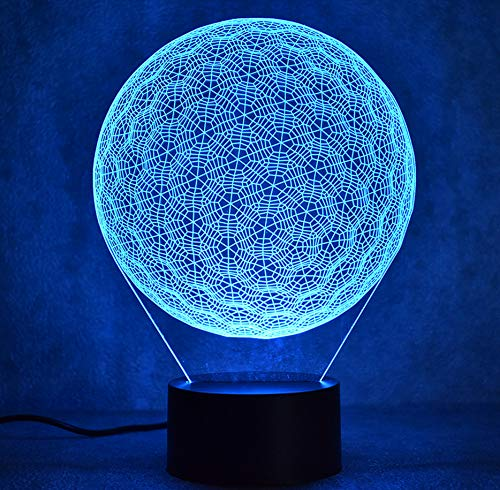 3D Led Visuelle 7 Bunte Neuheit Golf Ball Lampe Leuchte Usb Kreative Tischlampe Nacht Dekor Baby Schlaf Nachtlicht Touch Schalter