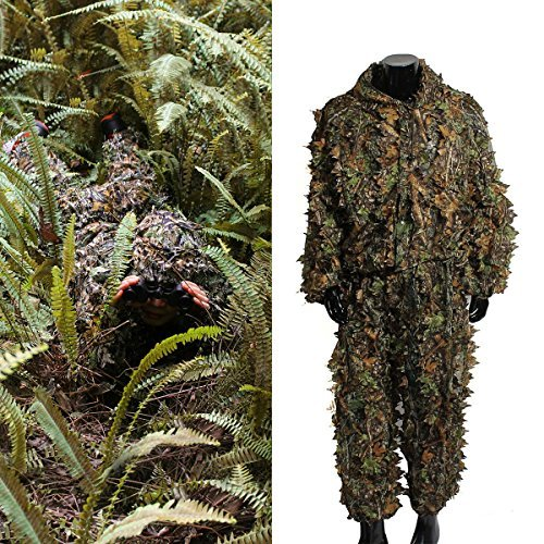 Vogel Person Kostüm - OUTERDO 3D Ghillie Suit woodland Tarnanzug