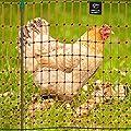 VOSS.farming Premium Elektronetz 112cm farmNET 50m Hühnernetz Geflügelnetz Hühnerzaun Geflügelzaun 16 Pfähle 2 Spitzen orange von VOSS.farming auf Du und dein Garten