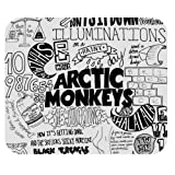 Generic Personalized England Rock Band Arctic Monkeys Graffiti Style for Rectangle Mouse Pad