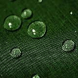 Gartentischdecke Lotus Effekt Eckig 135x200 cm Dunkelgrün Grün - Farbe, Form & Größe wählbar mit Fleckschutz - (LE_E135x200DGrün)